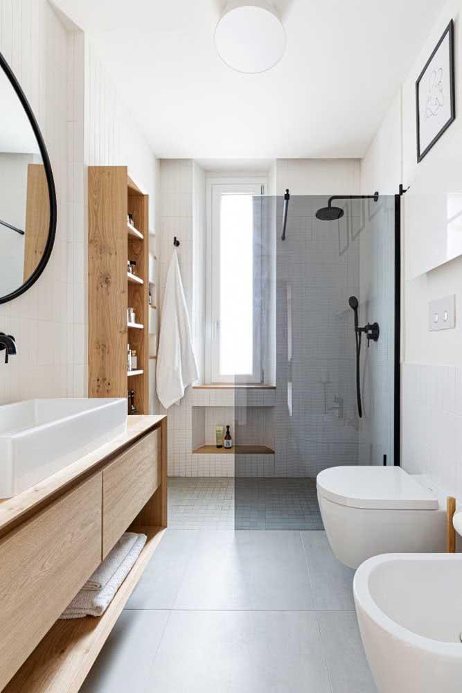 Compacto, esse bidê traz medidas reduzidas para encaixar no banheiro pequeno