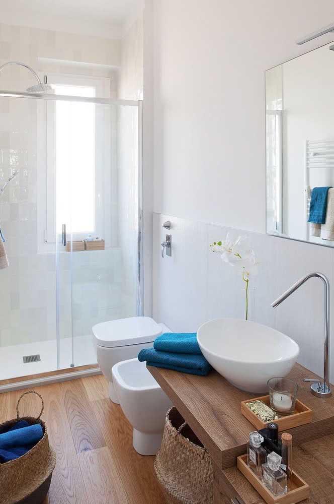 Combine as louças entre si para ganhar um banheiro bonito e funcional