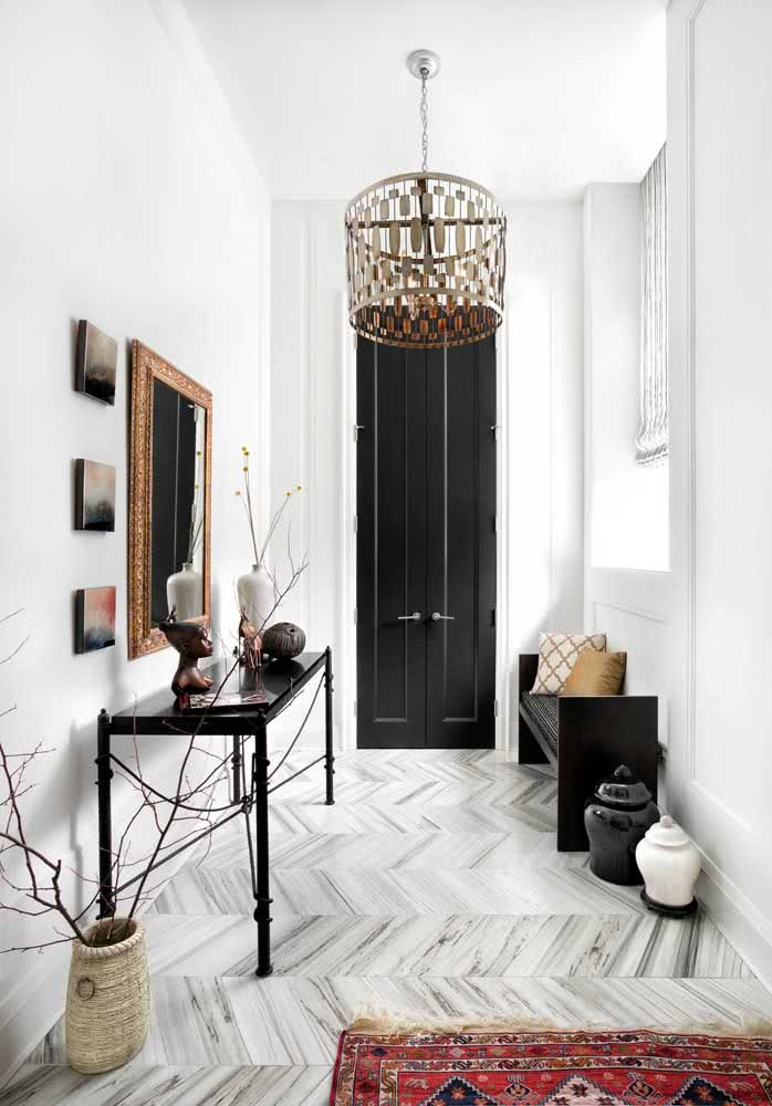 Nada como uma decoração em preto e branco para transbordar estilo
