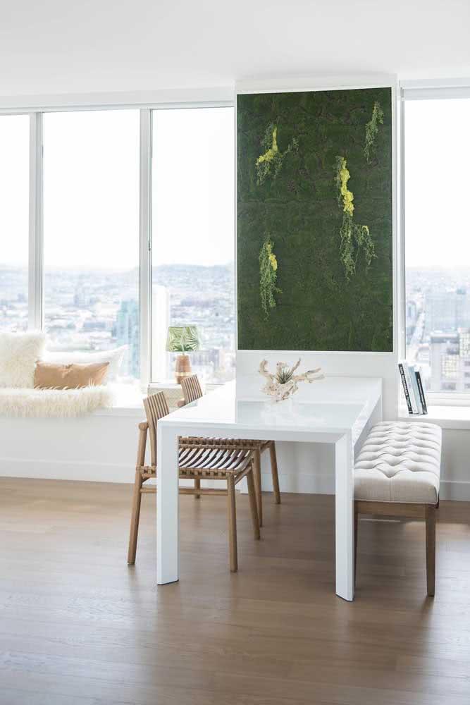 Jardim vertical artificial interno simples e fácil de fazer