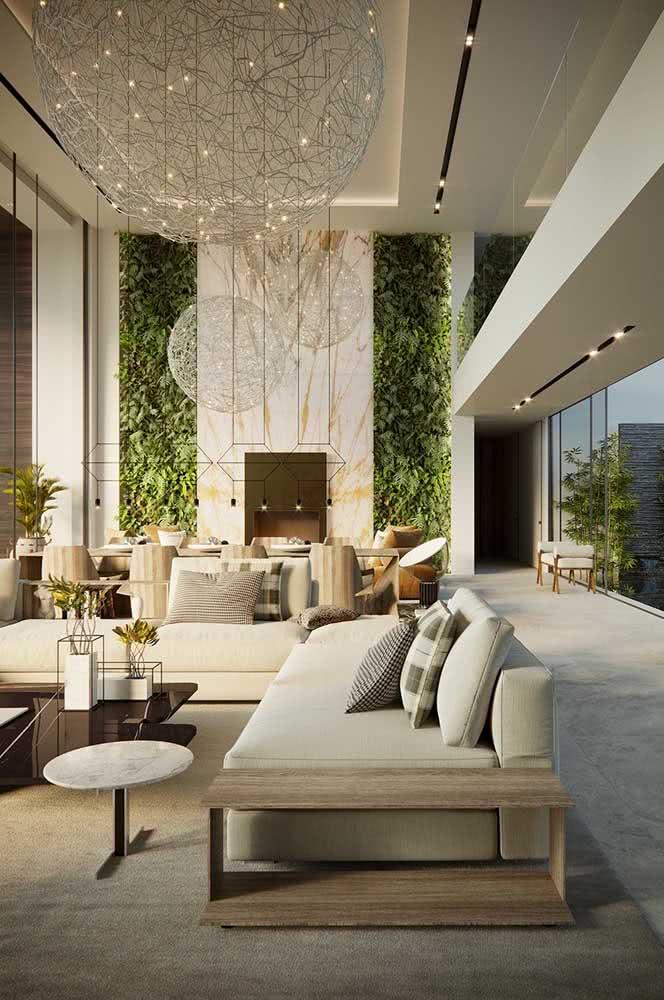 Qualquer decoração se dá bem com o jardim vertical artificial interno
