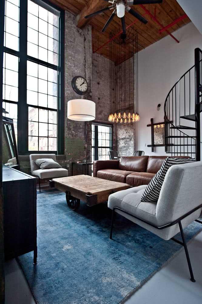 Valorize a iluminação do loft para garantir aquele clima aconchegante