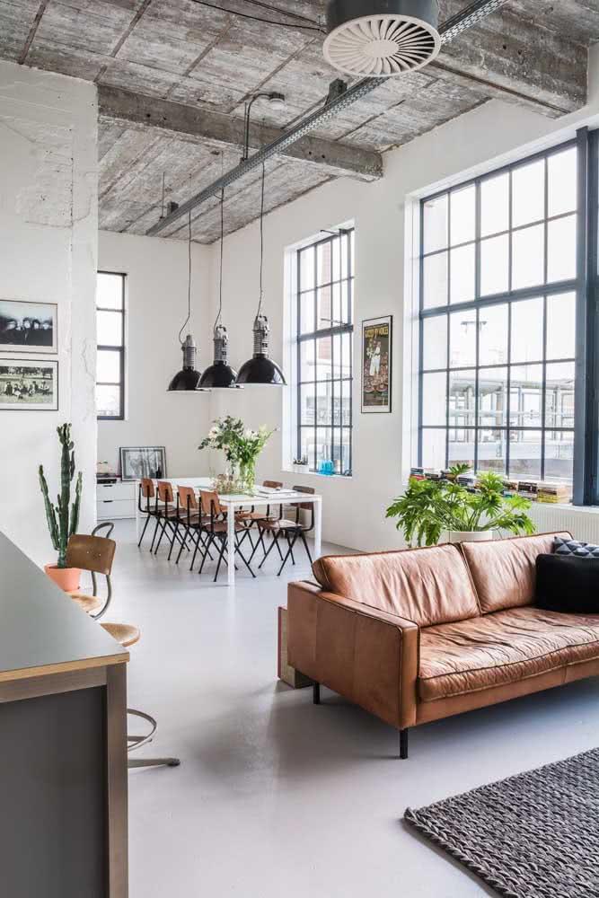 Integração é uma das maiores características de um loft industrial