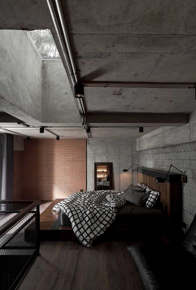 Loft industrial minimalista valorizando apenas o essencial