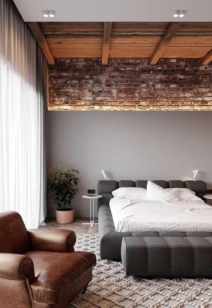 Traga texturas e crie um loft industrial confortável