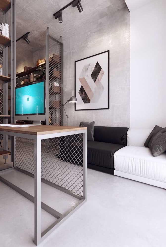 Decoração moderna e minimalista para o loft industrial pequeno