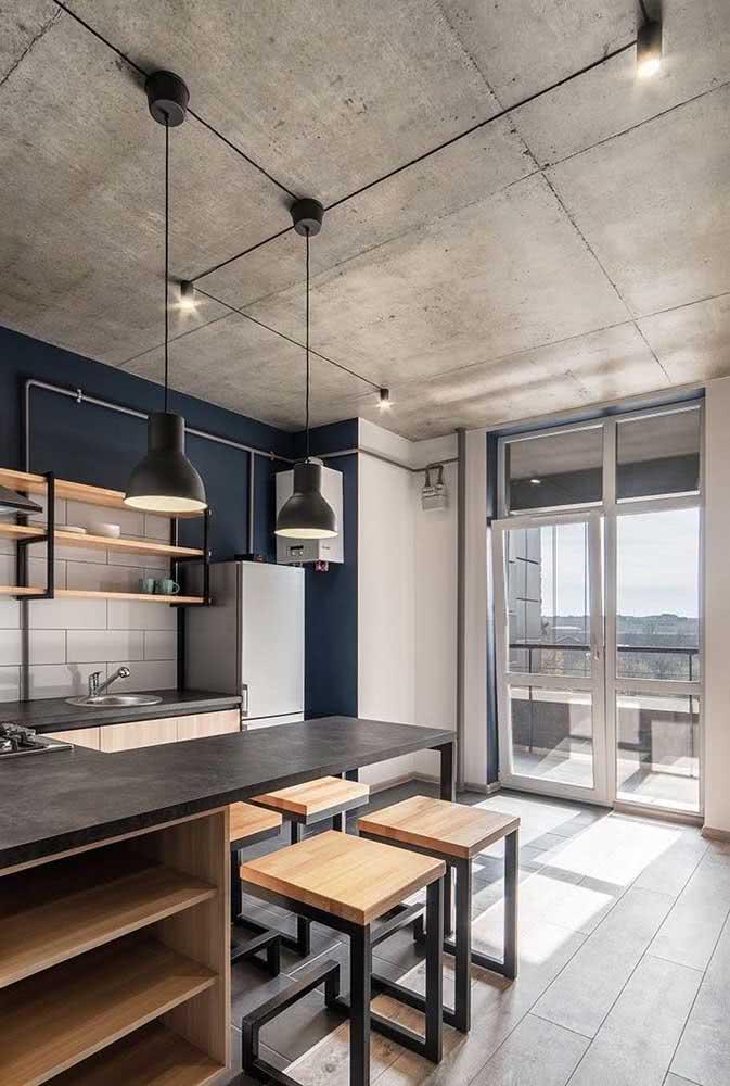 Transforme um apartamento comum em um loft industrial com a inclusão de alguns materiais, como o concreto e o metal