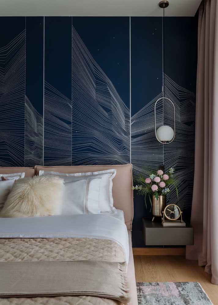 Papel de parede para quarto feminino 3D: modelo moderno para sair do padrão