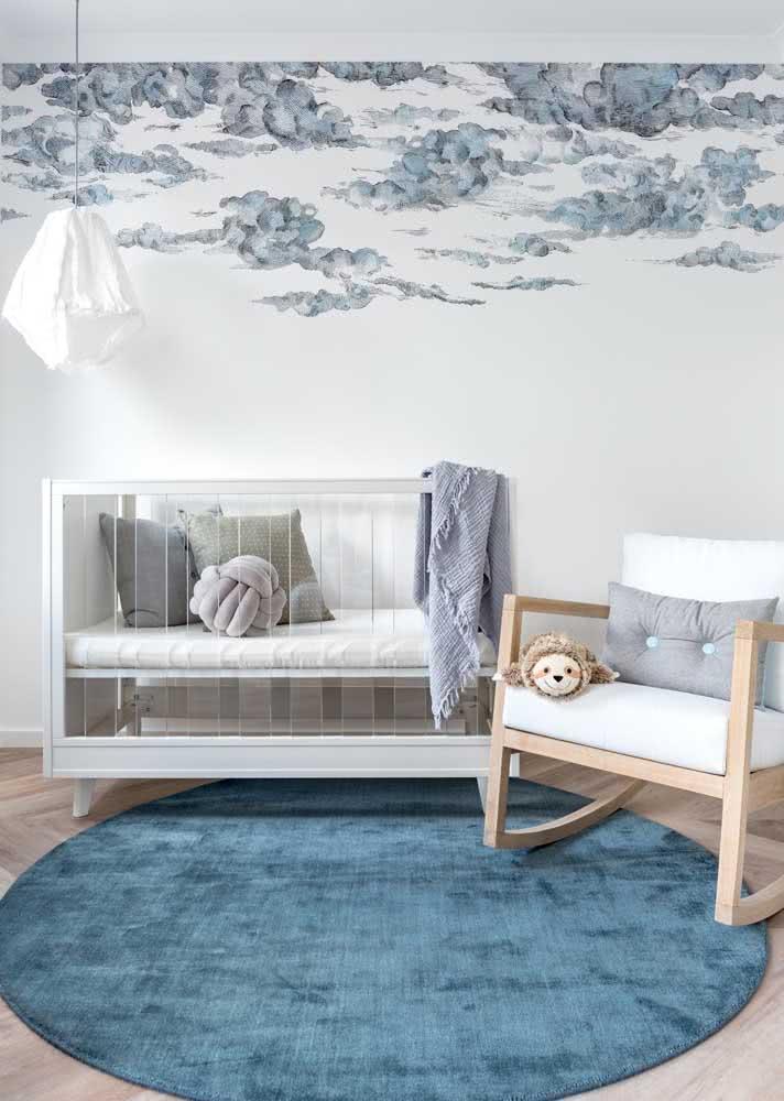 Algum problema em usar azul e cinza no quarto de bebê feminino?