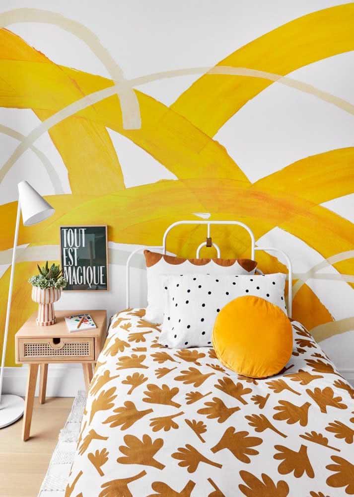 Papel de parede para quarto feminino jovem na cor mais viva e alegre de todas!