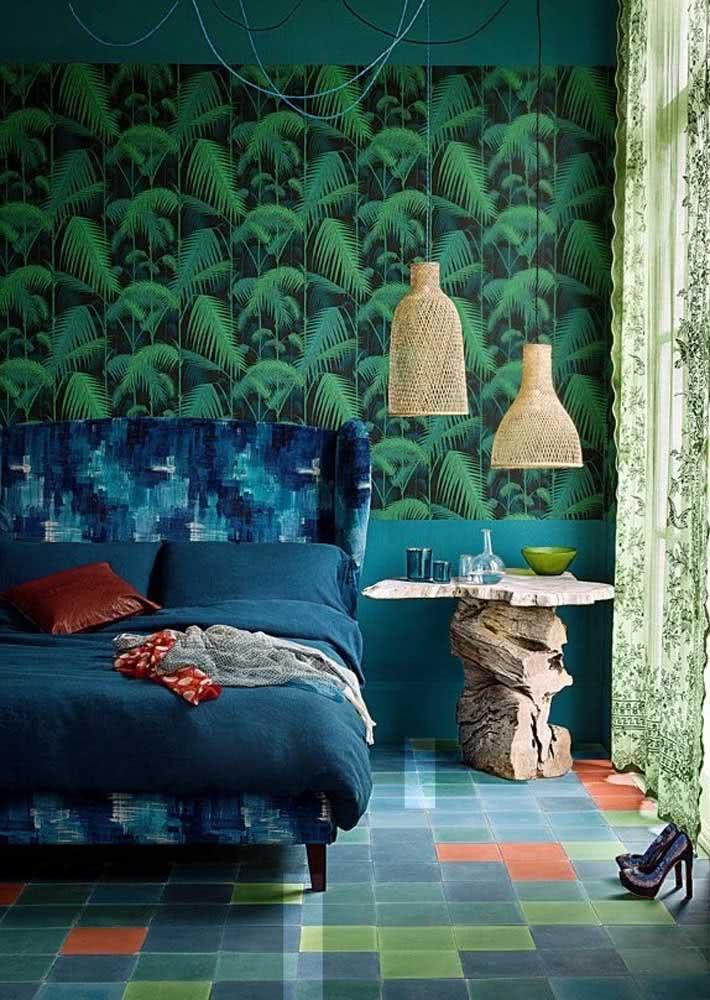Uma inspiração de papel de parede para quarto feminino moderno e de alta personalidade