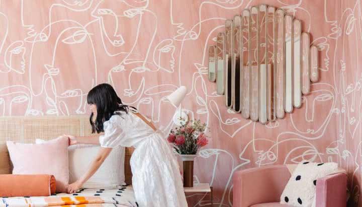 Papel de parede para quarto feminino: 50 fotos dicas para decorar