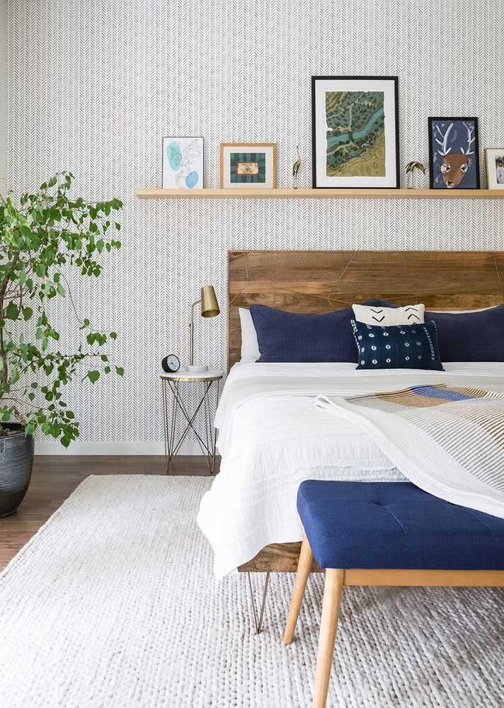 Papel de parede suave para quarto de casal masculino todo charmosinho.