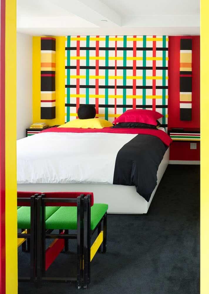 Multicolorido: papel de parede para um quarto totalmente artístico.