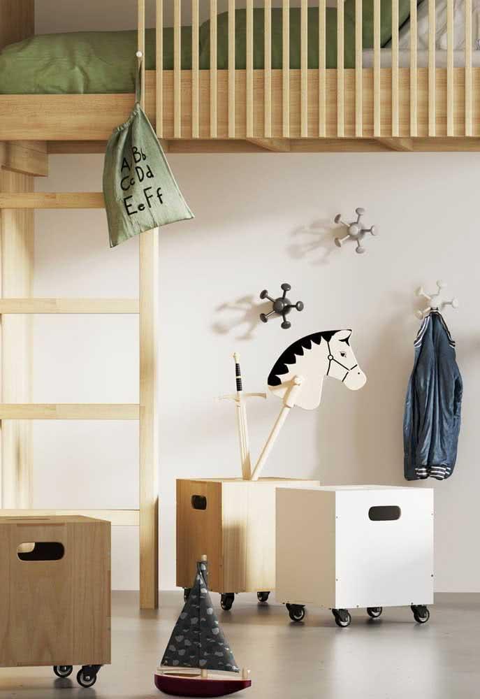 Baús pequenos para quarto infantil.