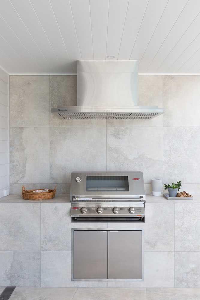 Ideia de espaço gourmet pequeno clean e elegante