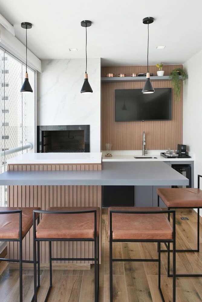 Soluções inteligentes para aproveitar melhor a área do espaço gourmet pequeno