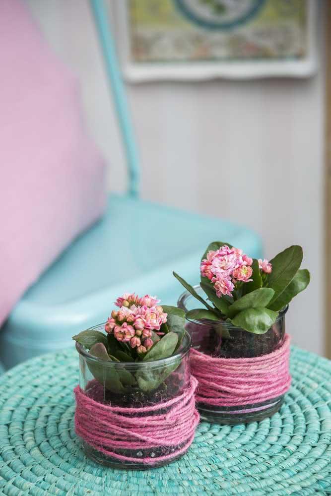 Flor da fortuna cor de rosa: puro romantismo!