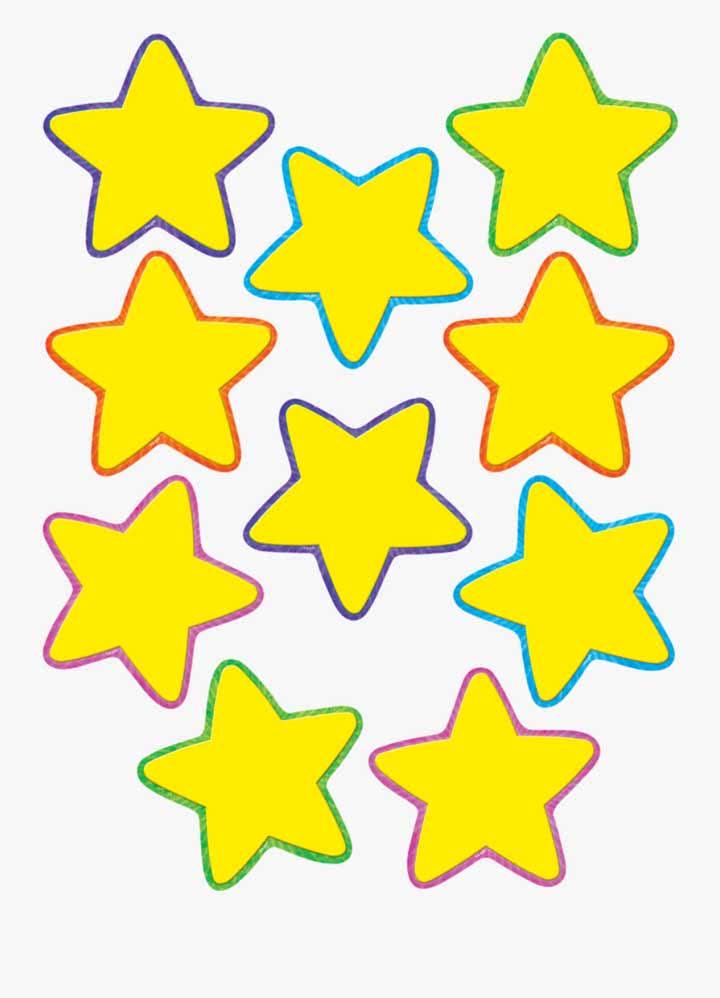 Molde de estrela cinco pontas pequenas para criar uma coleção