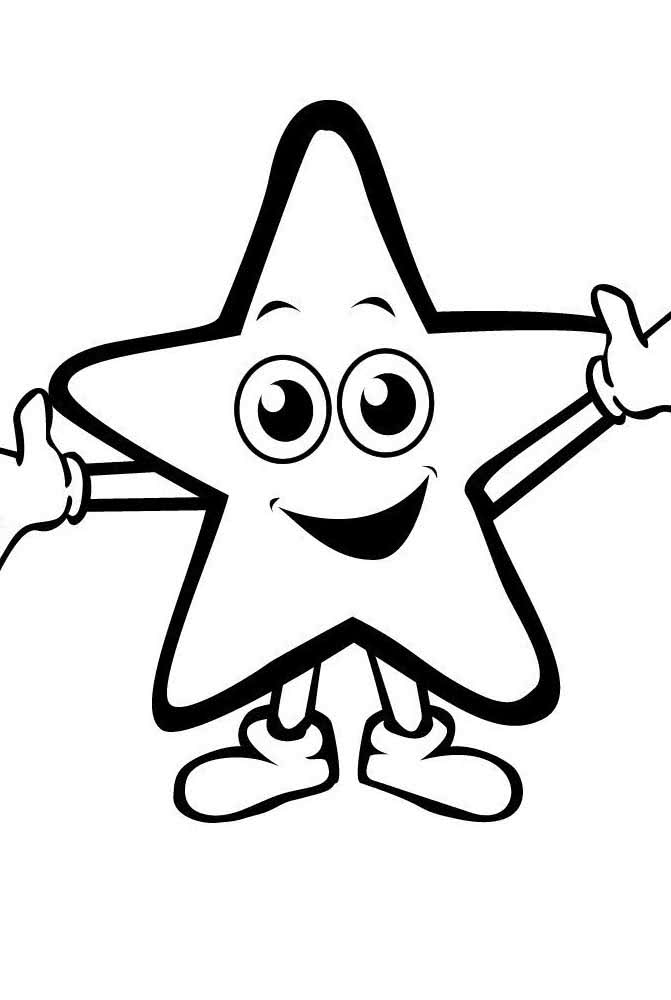 Molde de estrela com pés e mãos: completinha!