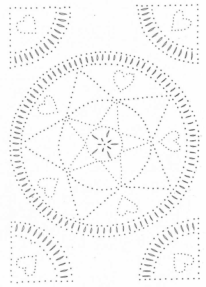 E o que acha de um molde de estrela do mar em forma de mandala?