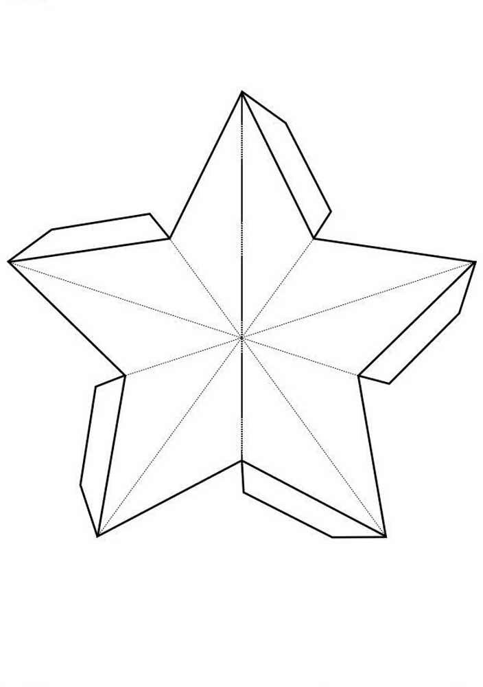 Molde de estrela para criar caixas ou objetos 3D