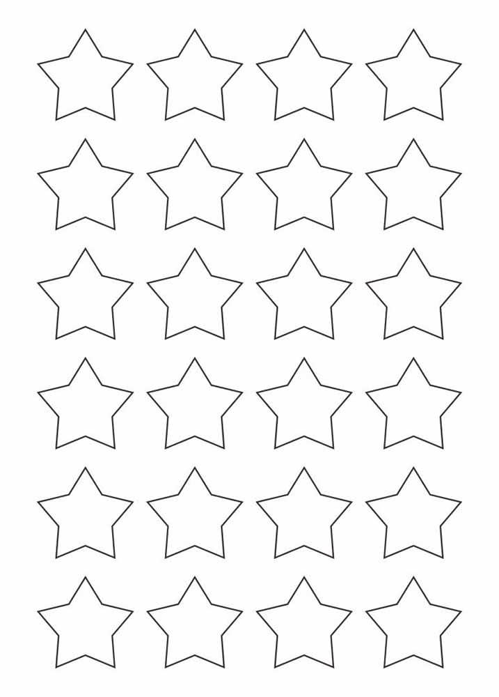 Um molde, 24 estrelas. Uma verdadeira constelação!