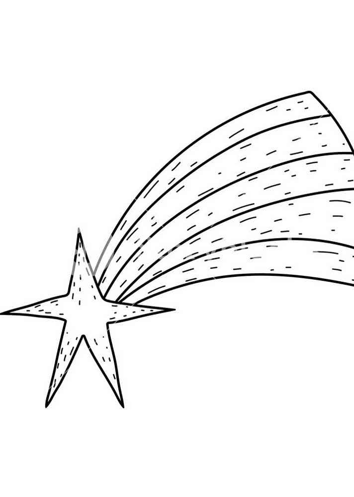 Molde de estrela cadente: uma das preferidas no natal
