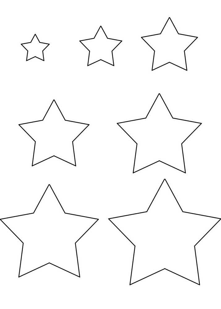 Molde de estrela do tamanho pequeno ao grande