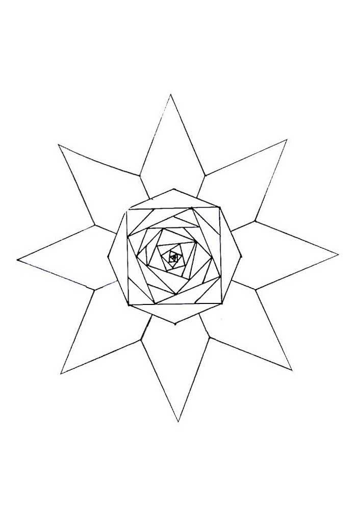Molde de estrela para quem procura algo bem geométrico