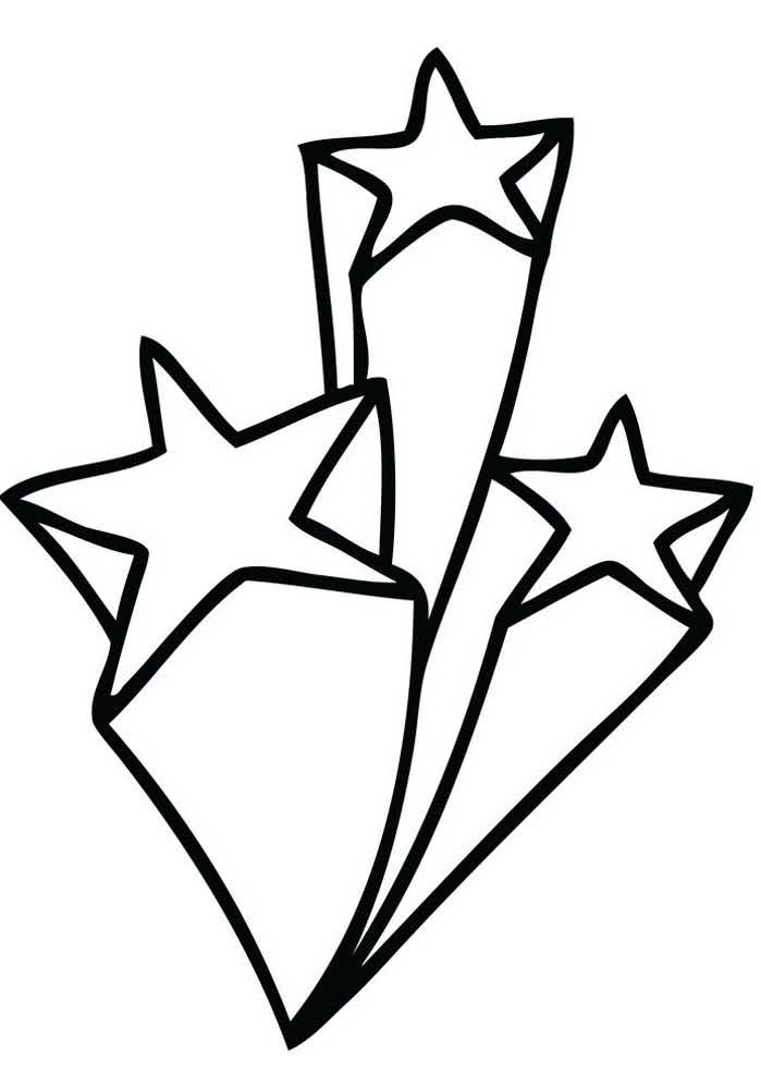 Um jeito diferente de representar a estrela cadente. Guarde esse molde com você!
