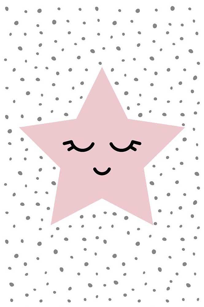 Molde de estrela de cinco pontas simples que pode ser usada como e onde quiser