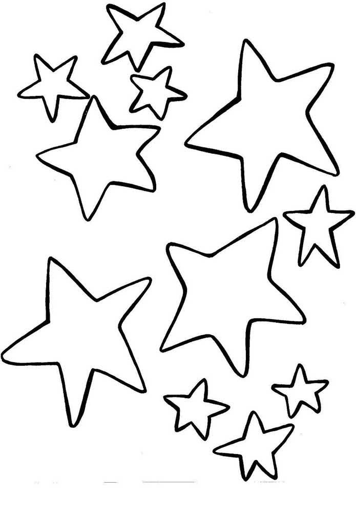 Molde de estrela cinco pontas em um formato mais livre sem a dureza das formas geométricas