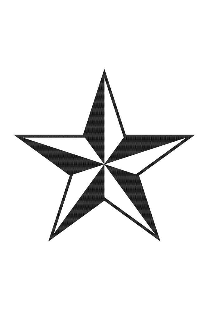 Que tal um molde de estrela cinco pontas em 3D?