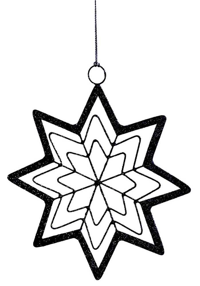 Molde de estrela de Belém em uma variação com cinco pontas