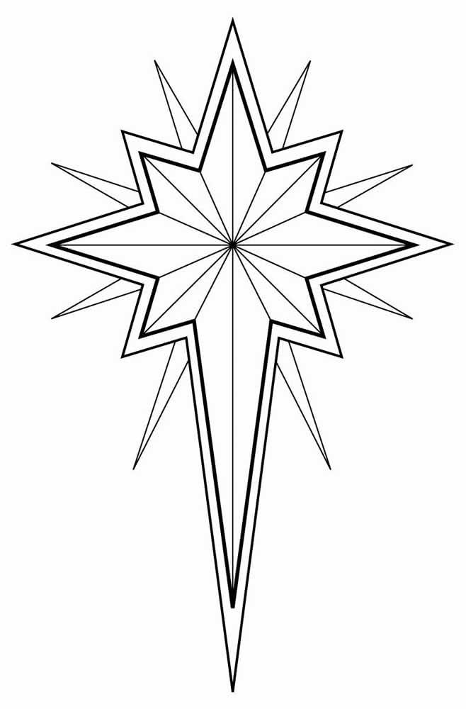 Mas se desejar um molde de estrela de natal tradicional, fique com esse aqui