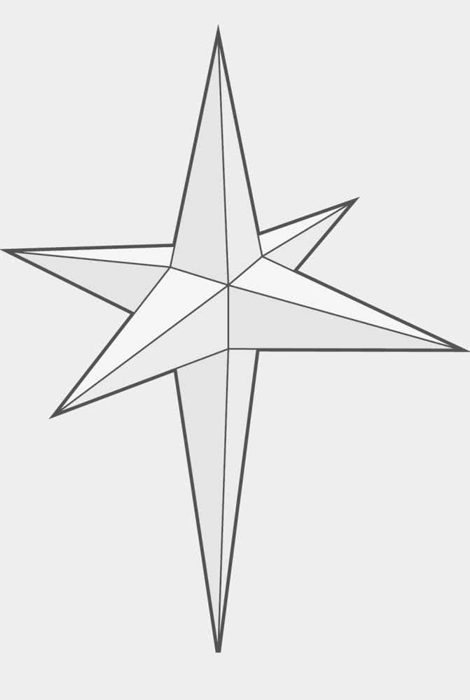 Molde de estrela de natal 3D para criar peças decorativas lindas