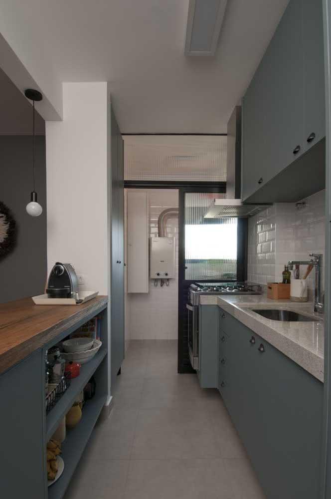 Granito claro para cozinha de armários cinza