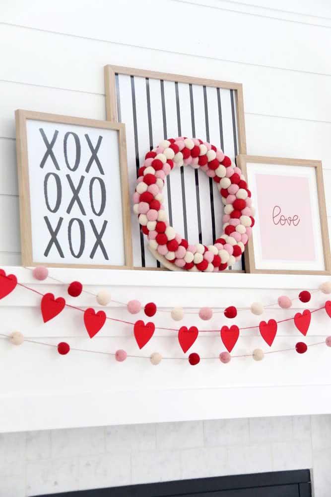 Decoração romântica de verdade sempre tem um coração!