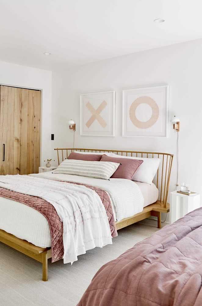 Uma inspiração de decoração romântica para quarto de casal sem ser clichê