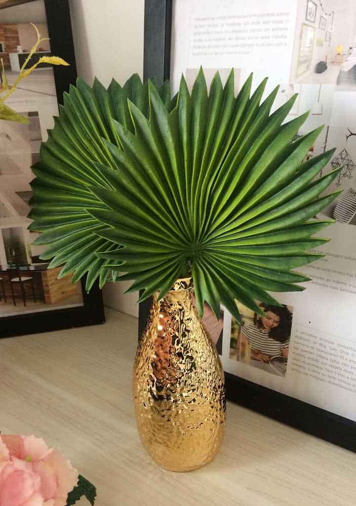 Decore a casa com as exóticas folhas da palmeira leque