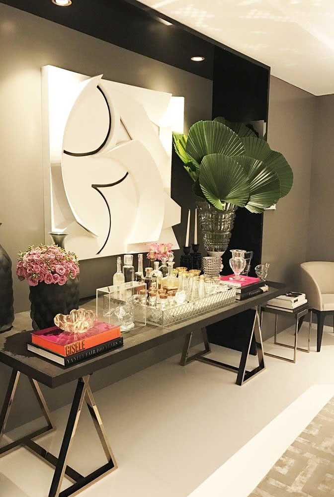 As folhas da palmeira leque também servem para decorações sofisticadas