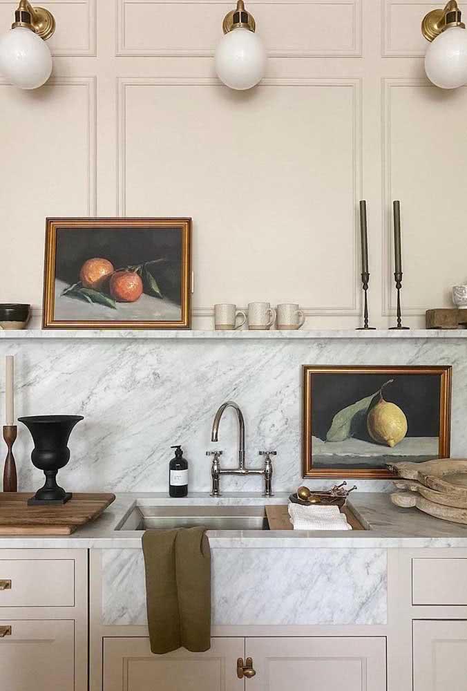 Os quadros clássicos de natureza morta são perfeitos para cozinhas