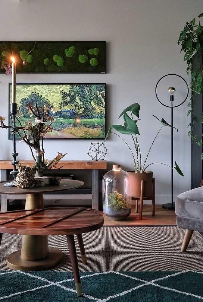 Quadros clássicos para agregar estilo na decoração da sala de estar