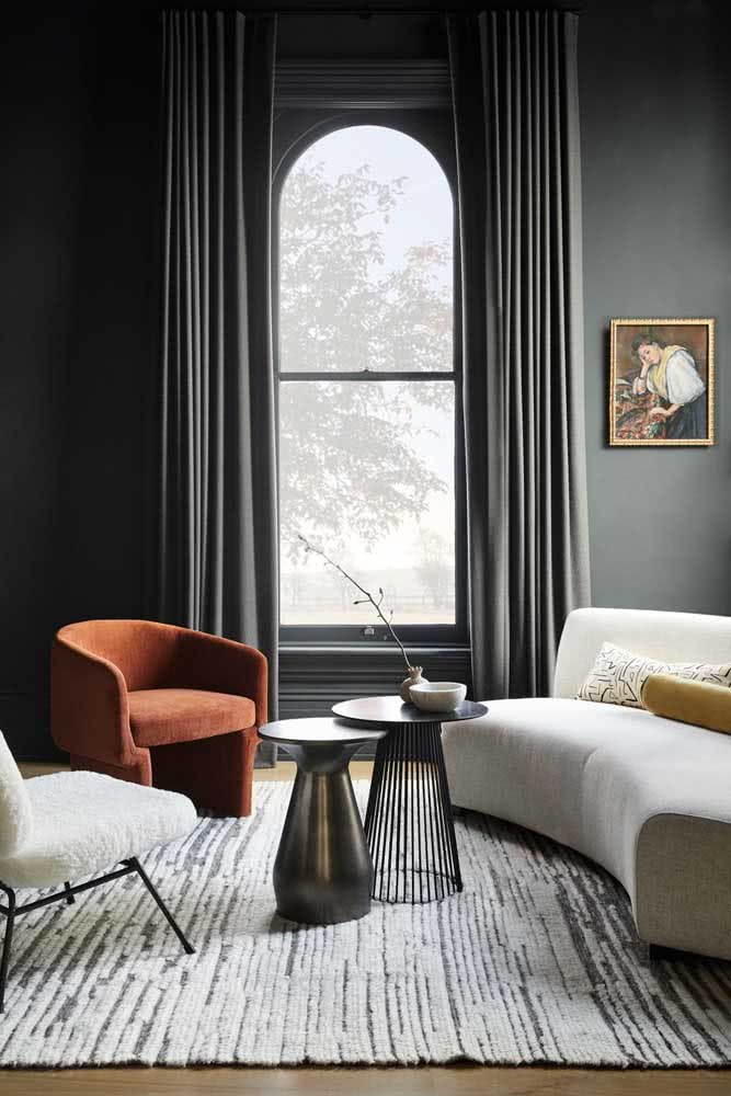 Quadro clássico para sala de estar: o único do ambiente
