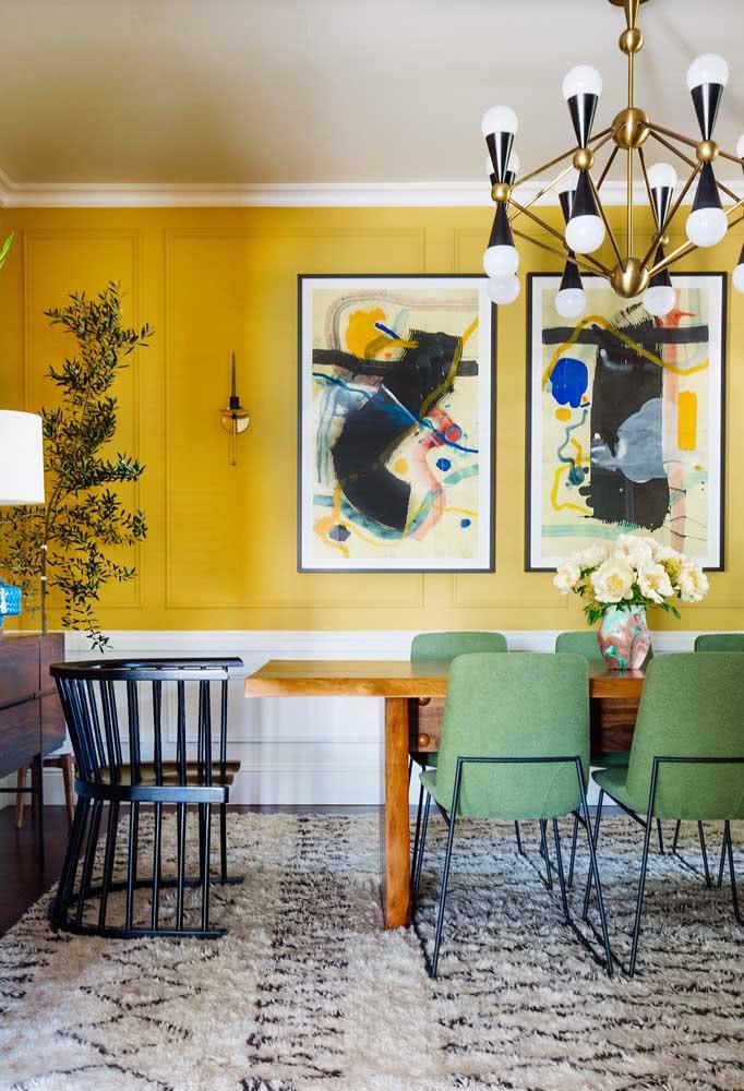 Já aqui, os quadros clássicos para sala trazem o abstracionismo como destaque