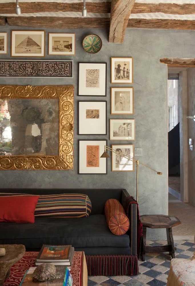 Uma prova de que os quadros clássicos vão bem em qualquer tipo de decoração