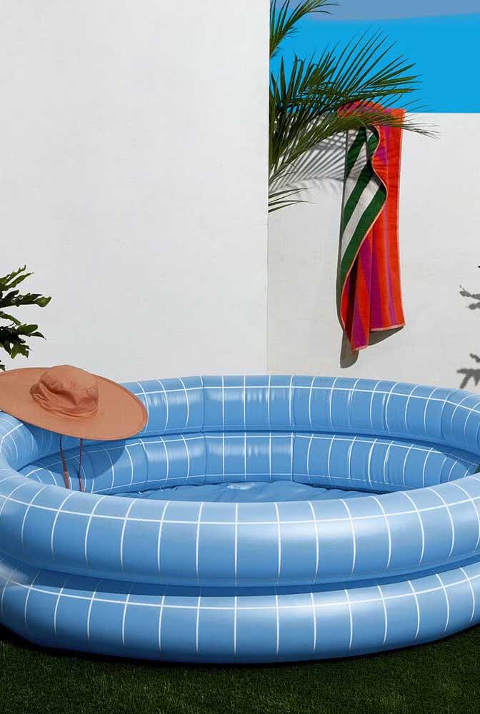 Piscina inflável infantil: cabe em qualquer quintal