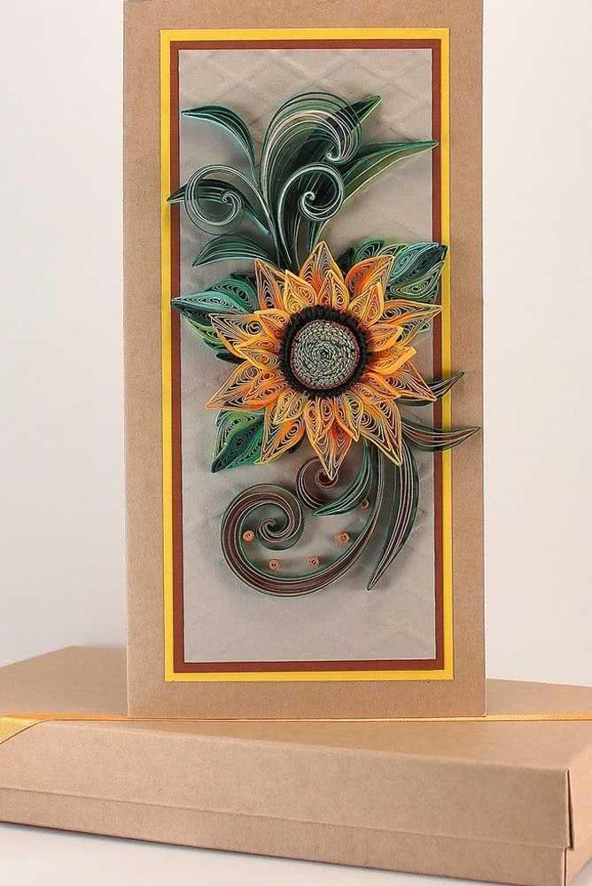 Inspiração criativa com flor de girassol de papel