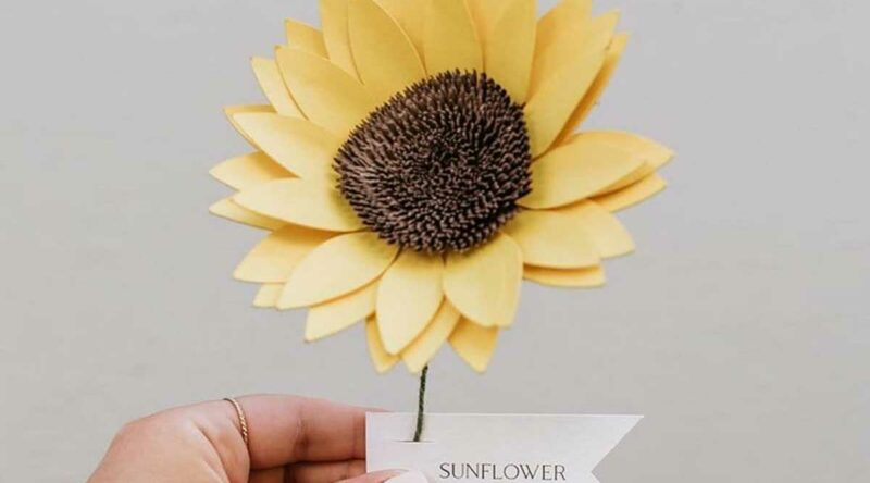 Girassol de papel: dicas para usar, como fazer e 50 fotos lindas